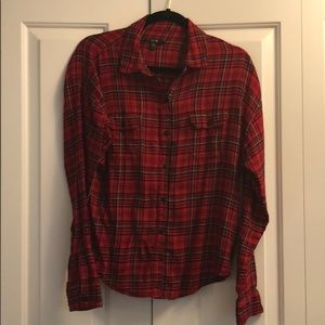 Joe's red and black flannel shirt